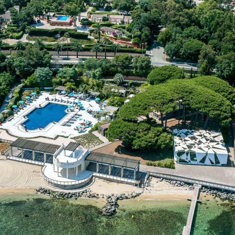 Le+Beauvallon+Beach+Club+Aerial